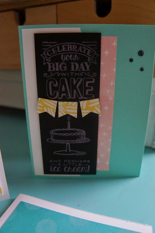 birthday card, stampinUP Big Day
