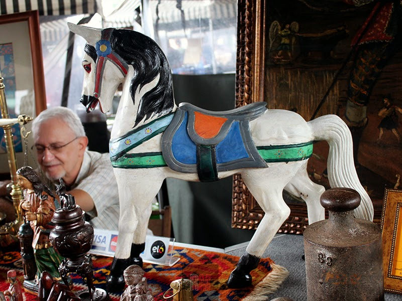 antique retro horse toy flea market