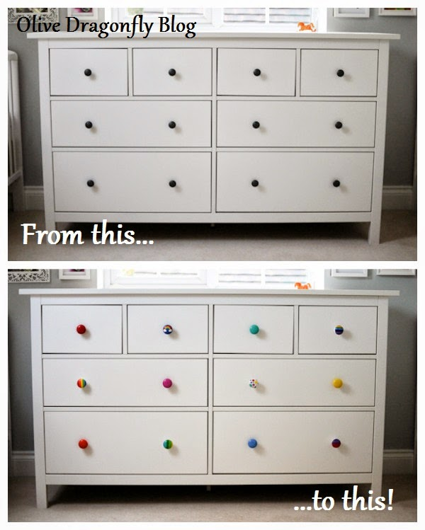 I Always Planned To Brighten Up Our New  Drawer Hemnes Chest In The Nursery With Some New Knobs Id Seen These Ones On Etsy And Had Chosen A Few To Ask