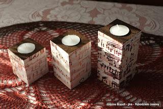 Decoupage – muzyczne świeczniki