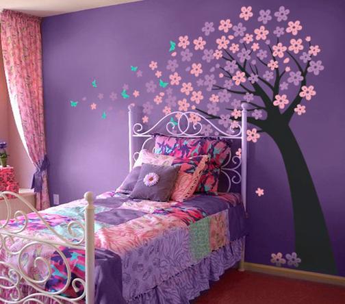 Purple And Pink Bedroom Paint Ideas : Lirolhaus - Decoración de Espacios en Bogotá: VINILOS DECORATIVOS ...
