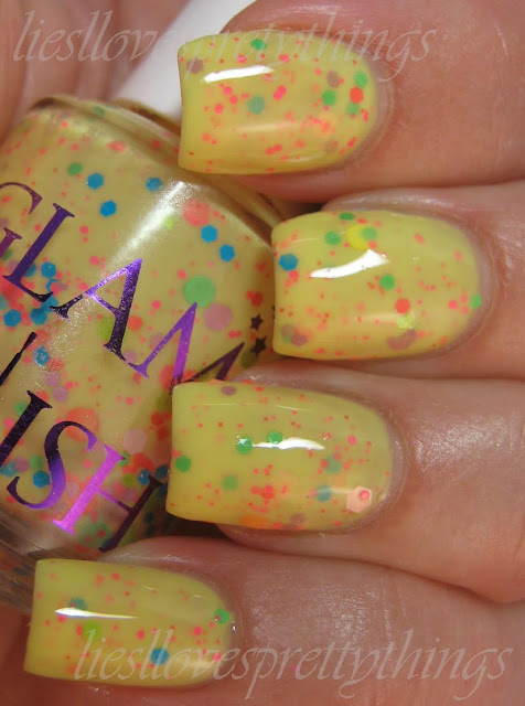 Glam Polish Ba-na-na swatch and review