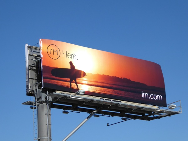 I'm Here Surfer billboard