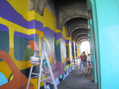 Aurora Bridge Mural - Organizing Volunteers