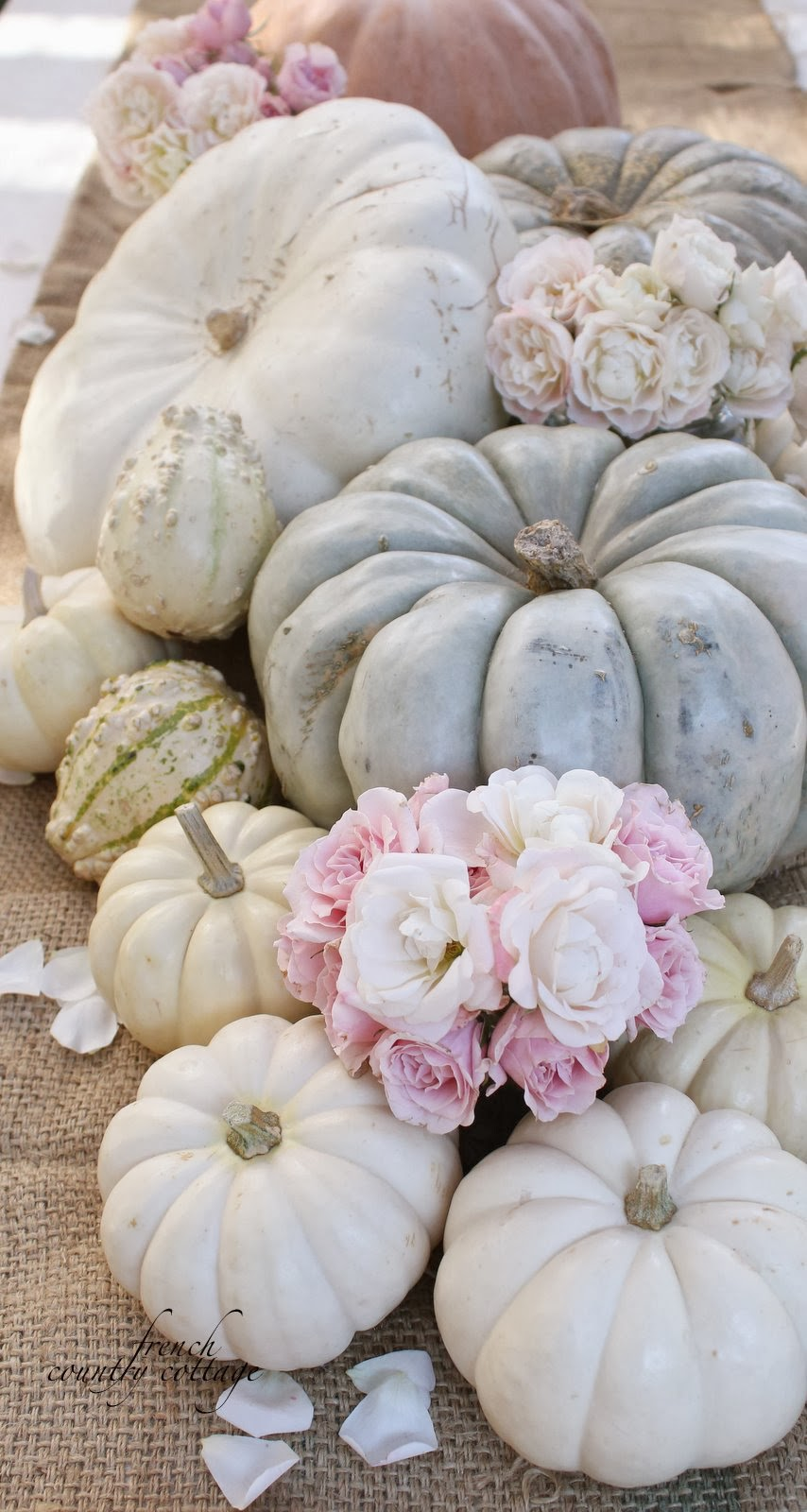Autumn centerpiece french country cottage