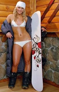 snowboard sexy chick