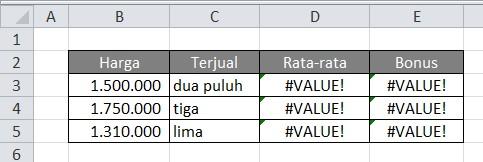 Setelah data Terjual Anda tulis dengan huruf atau teks maka akan ...