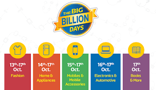 Flipkart The Big Billion Days 13th – 17th October 2015