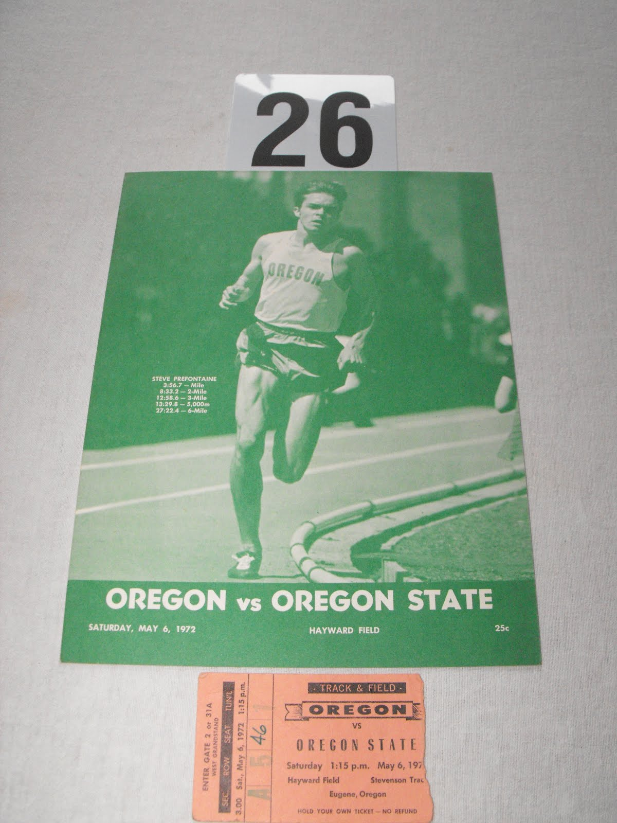 Program for Oregon-Oregon State Dual Meet May 6, 1972