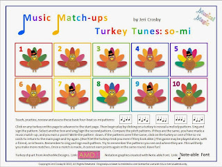 http://www.teacherspayteachers.com/Product/Turkey-Tunes-so-mi-Melody-Matching-Class-Game-or-Center-948047