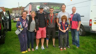 Keytek National Locksmith Poole take part in charity event the 'Glastonbury Bike Ride 2013' in aid of the British Heart Foundation