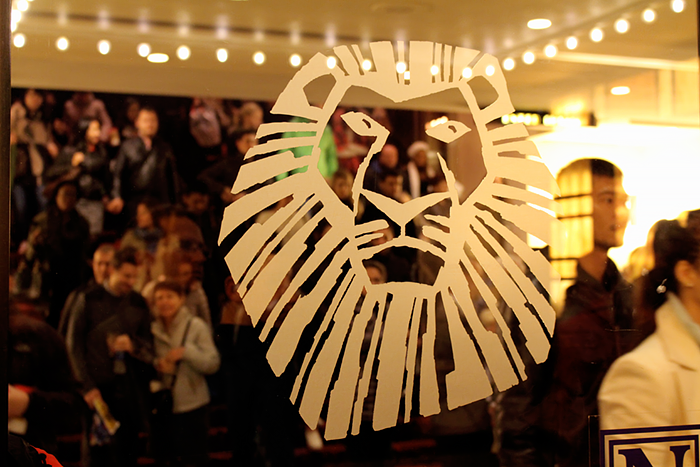 The Lion King musical on Broadway, NYC