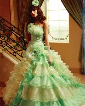 Wedding Dress Bright Green And Dark Green Wedding Dress Designs
