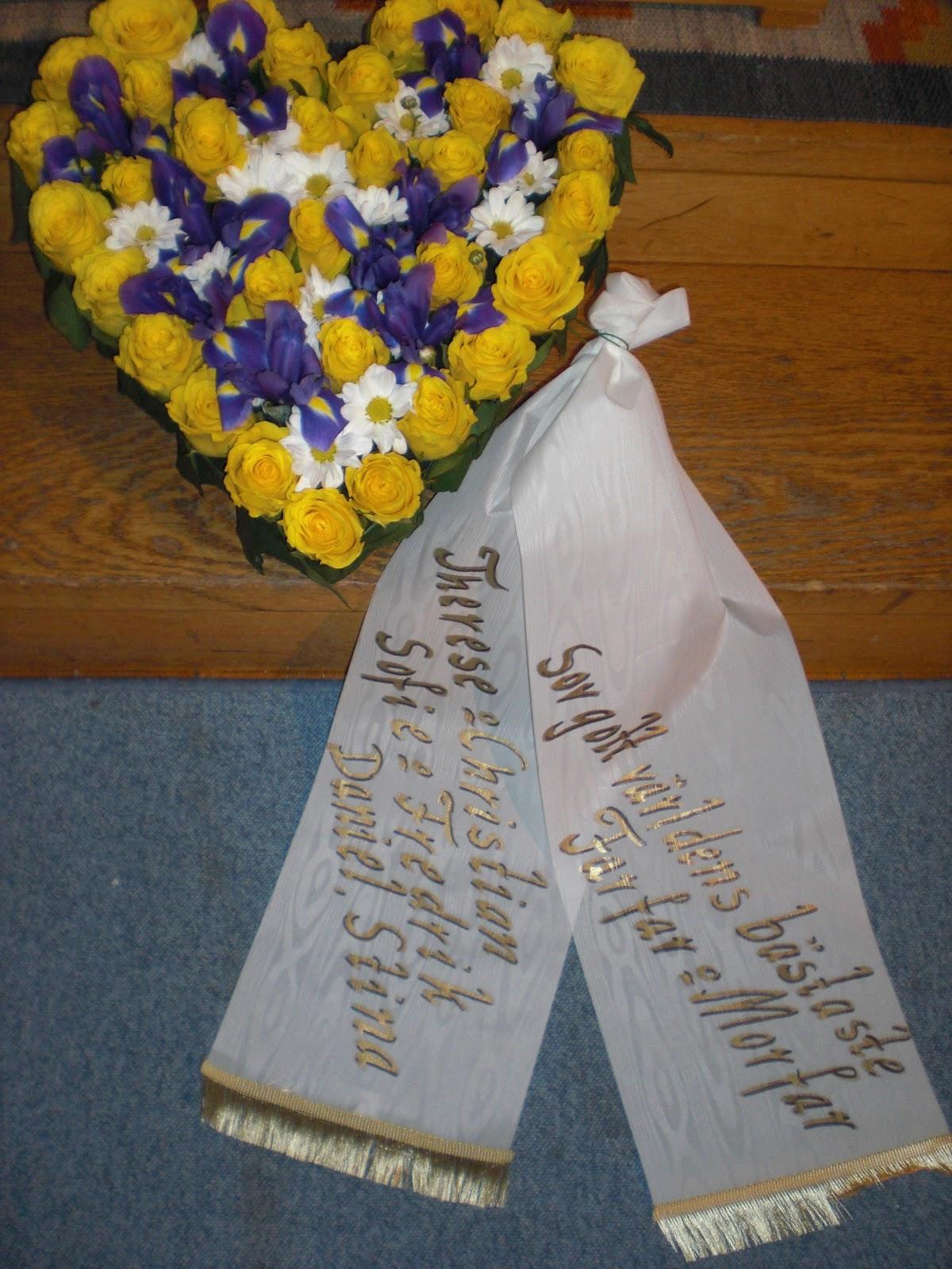 sista hälsningar vid begravning