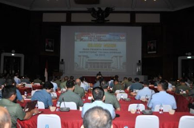Irjen TNI Buka Rakorwas Inspektorat TNI dan Kemhan 2015