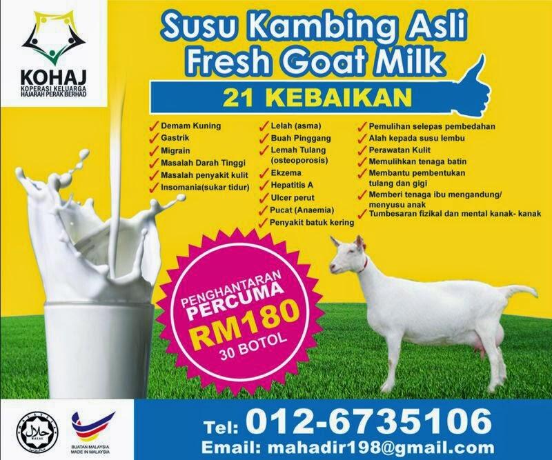 PENGEDAR SUSU KAMBING SEJUK BEKU DIPERLUKAN 012-6735106