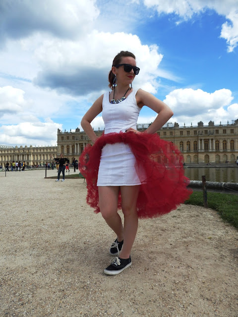 Versailles Chanel Red and White Panniers Sun