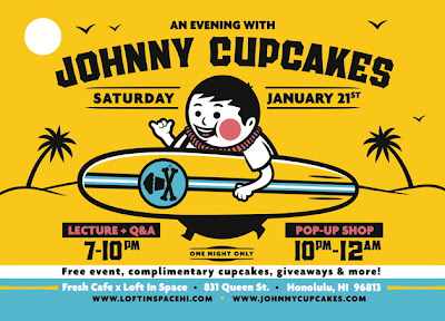 Johnny Cupcakes Hawaii Pop-Up Shop Flyer
