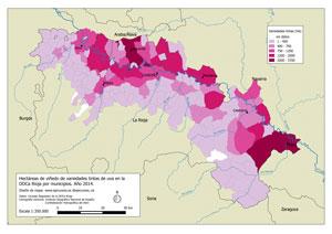 Mapa ha uva tinta DOCa Rioja