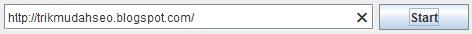 masukkan URL ke dalam Screaming Frog untuk memulai perayapan