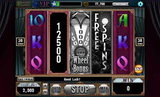 Results of bonus game from Dark Desires Slots game