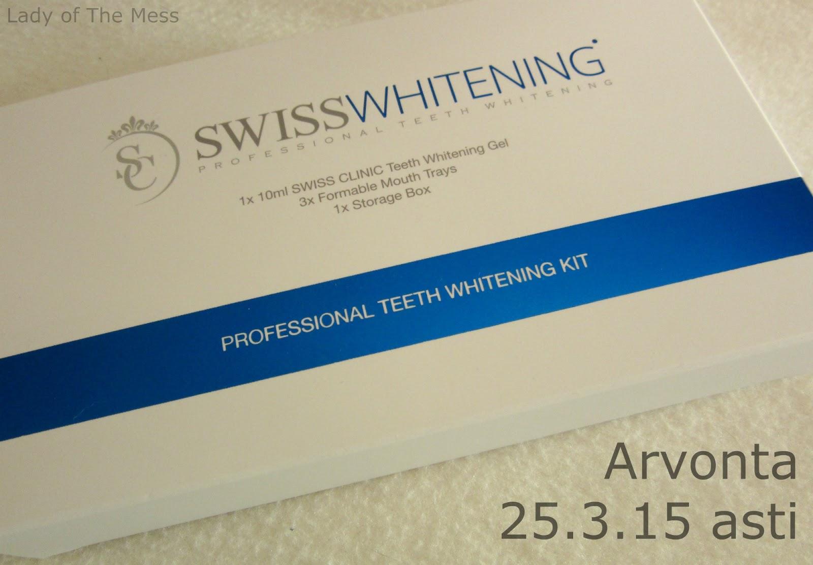 hampaidenvalkaisu, teeth whitening, swiss whitening, arvonta, giveaway
