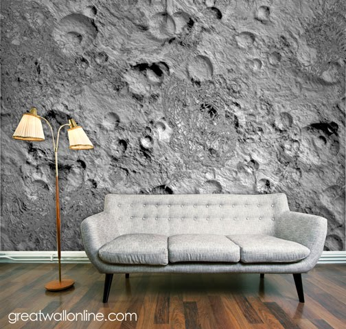 Custom Wall Mural Inspiration: Lunar Surface Part 81
