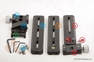 Multi Row Panorama Head Ver. II components grouped/numbered