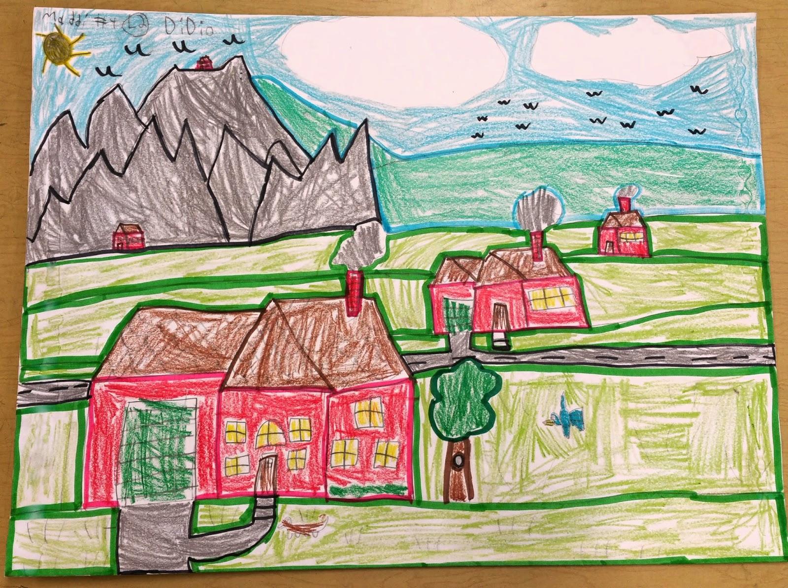 Paintbrush Rocket: 2nd Grade Landscapes (SLO lesson) on Art Folders