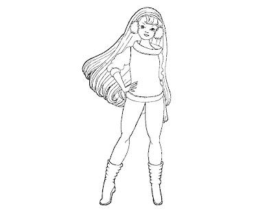 #9 Barbie Coloring Page