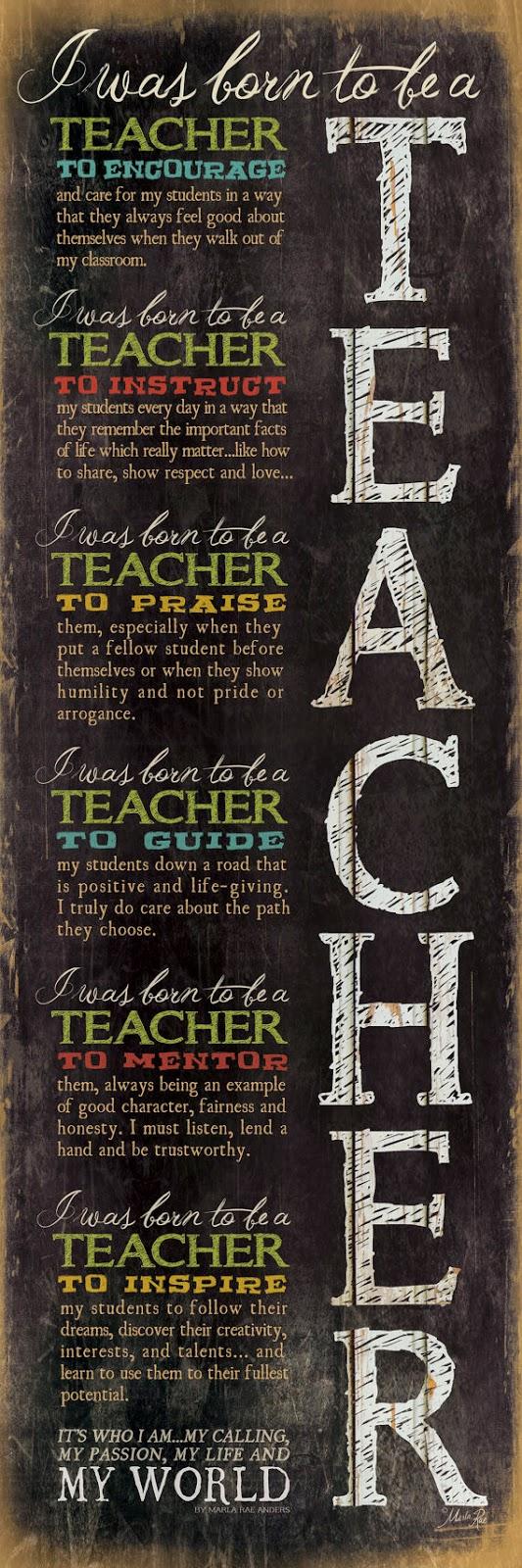 Adakah Anda Dilahirkan Menjadi Seorang Guru