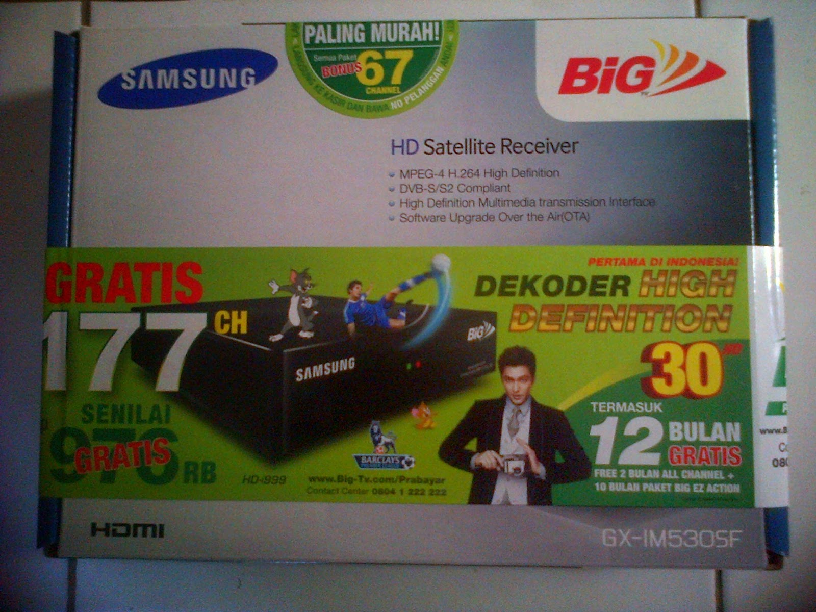 Dekoder / receiver samsung hd big TV