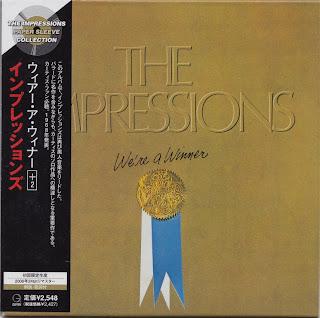 THE IMPRESSIONS - WE \'RE A WINNER (ABC 1968) Jap mastering cardboard sleeve + 2 bonus