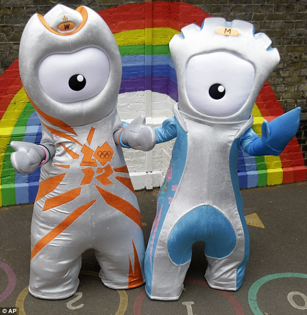 2010 Olympic games, London, mascot, Mandeville, Wenlock