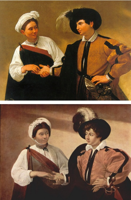 Caravaggio e la Zingara | La Buona Ventura 1593-1597