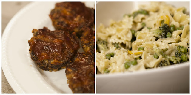 meatloaf and pasta