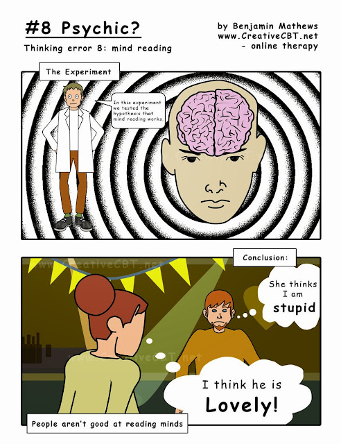 Cognitive behavioural Therapy Comic Psychic