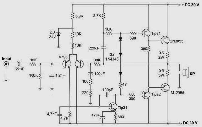 koleksi skema rangkaian artikel elektronika 2sc5200 power amplifier circuit diagram 2sc5200 2sa1943 amplifier circuit diagram pcb