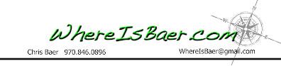 WhereIsBaer.com logo Where Is Baer Chris logo font compass