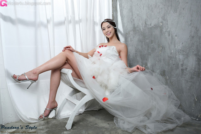2 Ju Da Ha in Wedding Dress-very cute asian girl-girlcute4u.blogspot.com