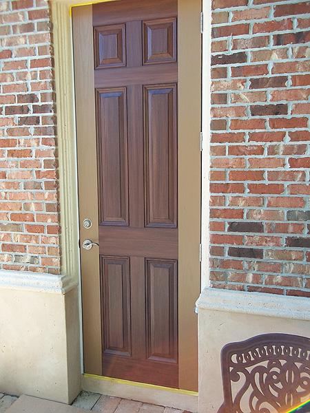 Faux Paint Entry Door To Look Like Wood Everything I Create Paint Garage Doors To Look Like Wood