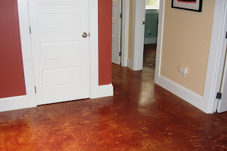 real estate portland or acid etched stained concrete floors