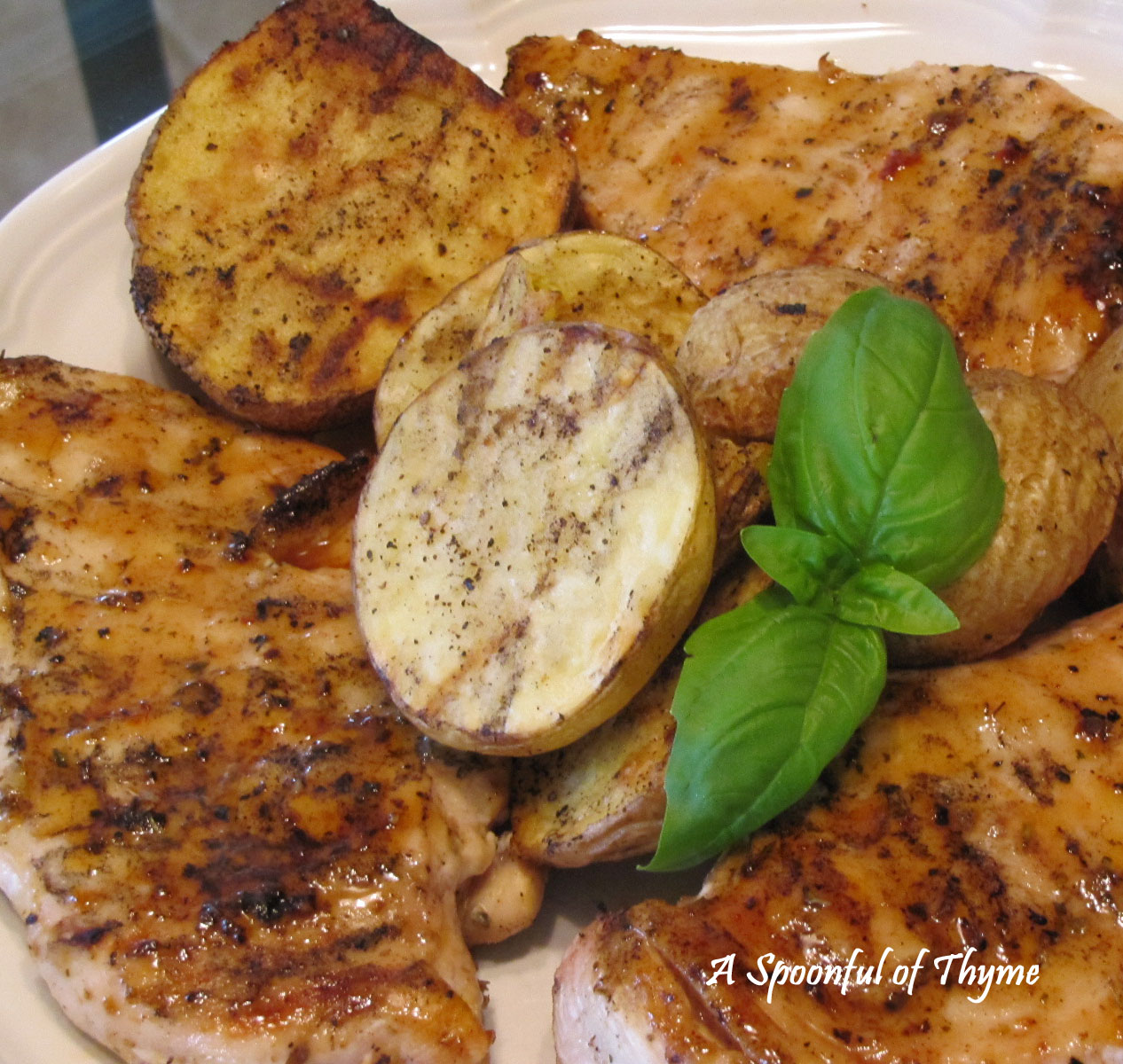 ... honey mint glazed chicken recipe simplyrecipes com honey glazed