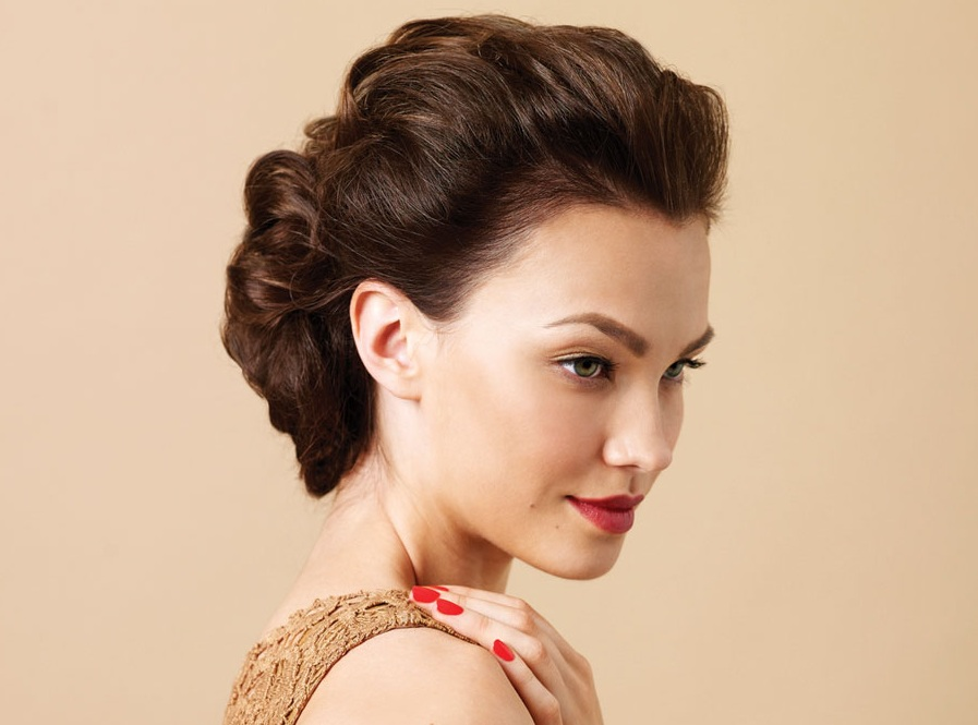 Updos for Short Hair: 69 Handpicked Short Hair Updo Styles   Hairstylo