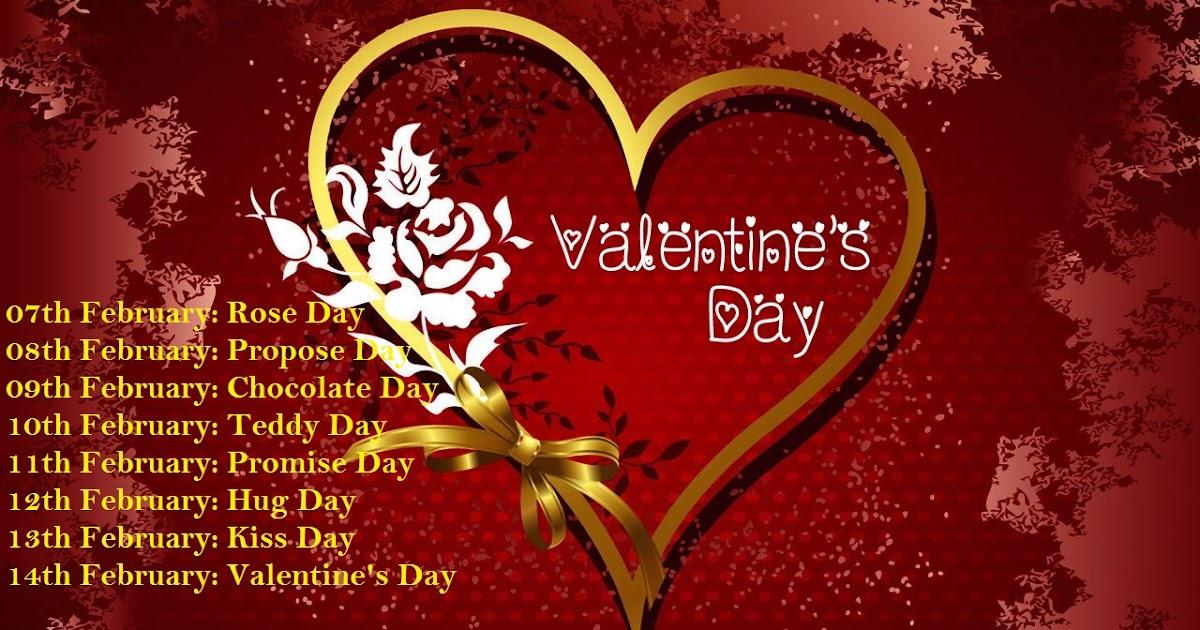 Valentine Week List 2018 Schedule Name Dates Days Full List ...