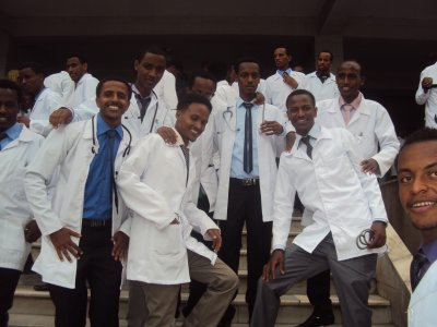 Gawening or White Coat Ceremony at Black Lion Hospital 2014