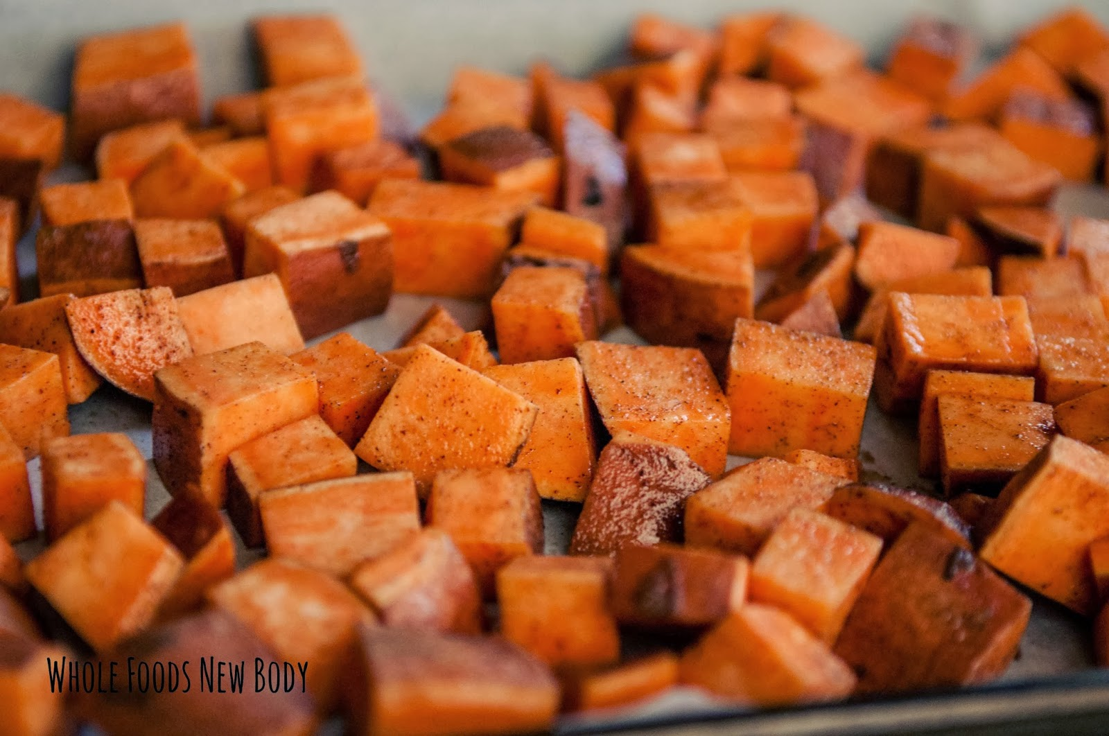 Whole Foods...New Body!: {Super Simple Roasted Sweet Potato Cubes}