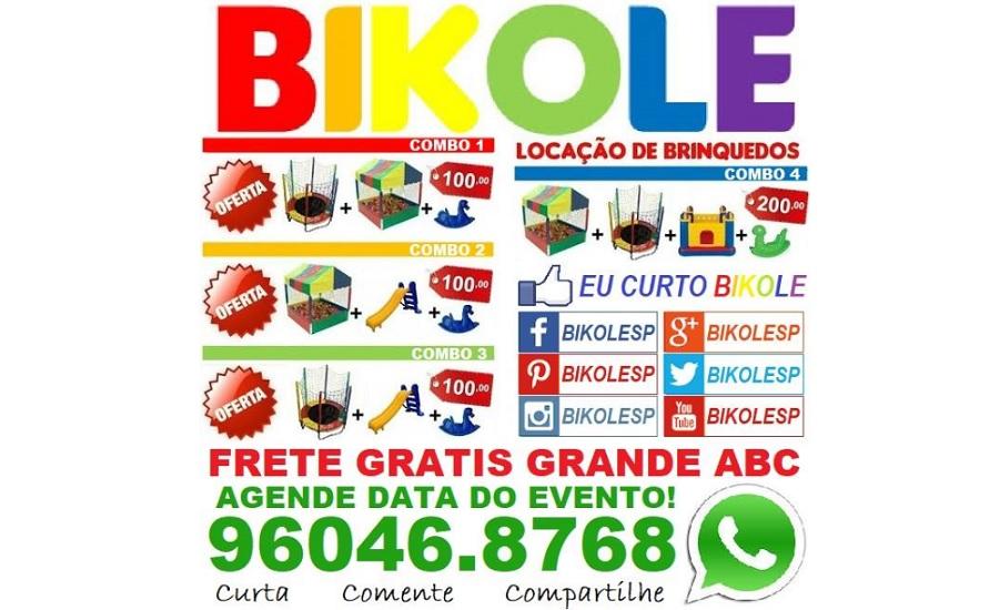 BIKOLE: BRINQUEDOS + BIKE + SACOLÉ
