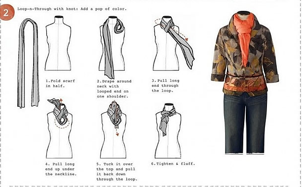How to Wear a Scarf How To Tie Fashion Neck Scarves