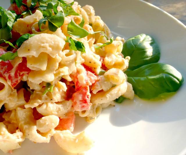 gluten free chicken basil pasta salad